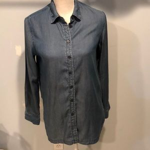 Parker long sleeve denim button down shirt